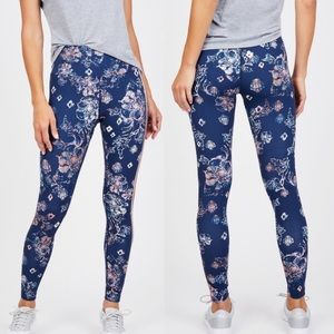 Free People High Rise Floral Workout Leggings Pant